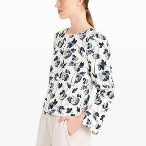 CLUB MONACO Etheline Floral Long Sleeve Blouse M